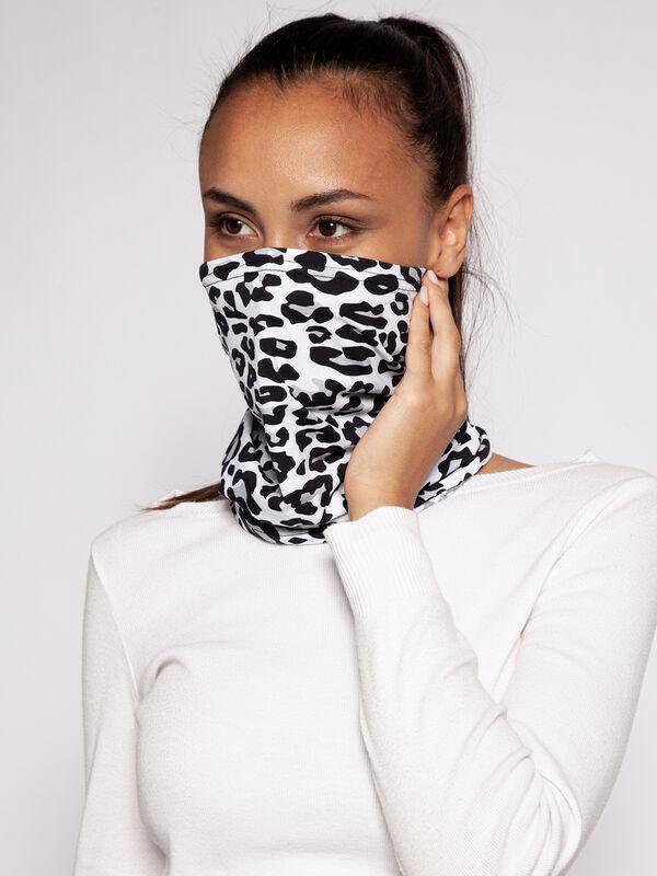 Cuello utilizable como mascarilla para la cara