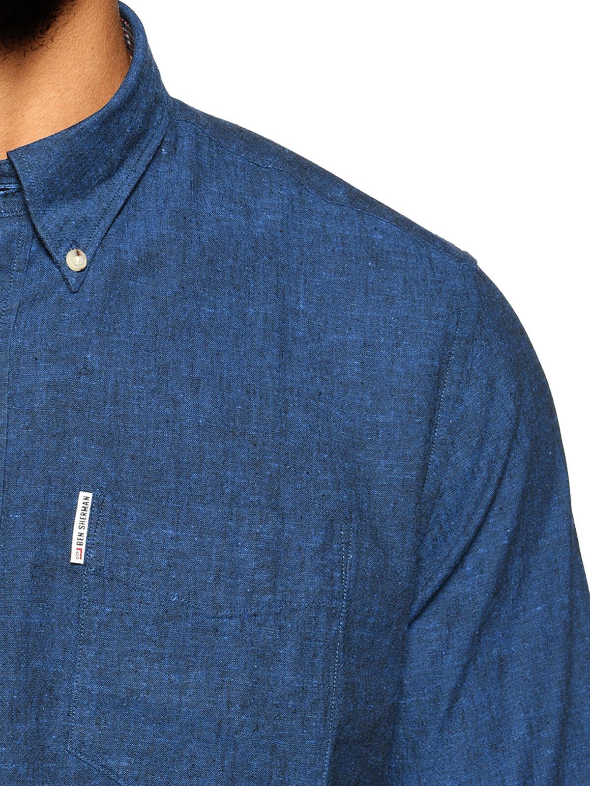Camisa Regular Fit con lino
