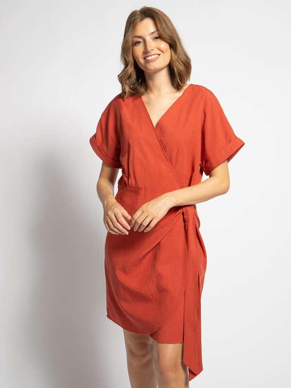 Wrap-Over Dress
