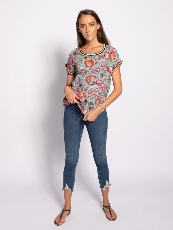 Patterned Blouse Top